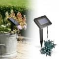 100 LED-es napelemes kerti fényfüzér- 10 méter, hidegfehér