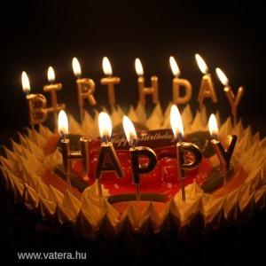 1x happy birthday felirat szülinapi gyertya szett torta dekoráció