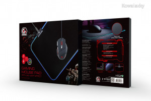 Gembird MP-GAMELED-M Gaming mouse pad with LED light effect M-size