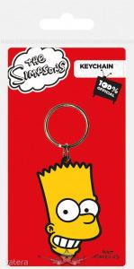 THE SIMPSONS - Bart Simpson - Logo rubber . kulcstartó