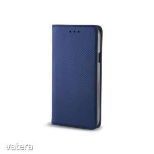 Smart magnet Nokia 1 Plus oldalra nyíló mágneses könyv tok szilikon belsővel sötétkék