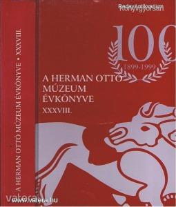 R-A Herman Ottó Múzeum évkönyve XXXVIII. (*H12)