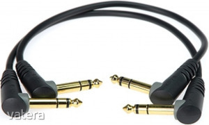 Klotz - JACK-JACK kábel, 0,9 m Klotz aranyozott 6,35-JACK3 pipa - 6,35-JACK3 pipa csatlakozók, + ...