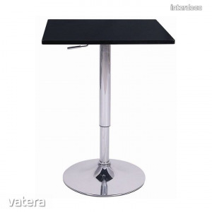 FLORIAN Bárasztal, állítható magasság - Fekete