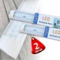 2 db T12 LED fénycső 60 cm lapított kivitel