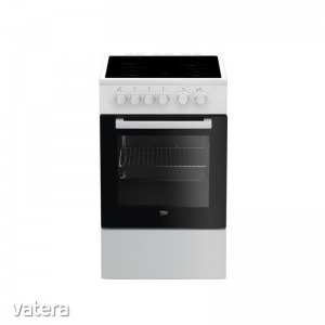 Beko FSS-57000 GW - Elektromos 4 zónás főzőlap, elektromos sütő, grill, légkeverés, 50cm