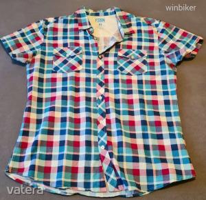 FSBN férfi fiú ing rövidujjú kockás vagány fiatalos divatos = KIÁRUSÍTÁS = garázsvásár = 1FT NMÁ