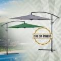 Függő napernyő 300 cm, zöld és antracit színben