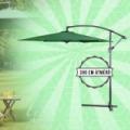 Függő napernyő 300 cm, zöld színben