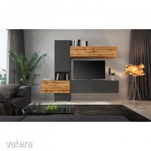 BRISTOL nappali szekrényfal (Nappali bútor, tölgy wotan/lava)