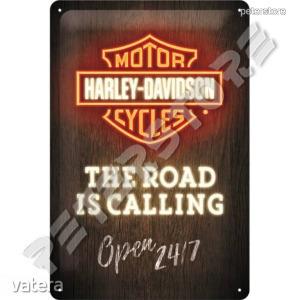 Retró Fém Tábla - Harley-Davidson Motor Dombornyomott