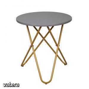 RONDEL asztalka, szürke/arany