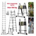 Összecsukható, multifunkcionális teleszkópos alumínium létra 280-560cm