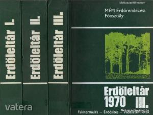 Rakonczay Zoltán(szerk.): Erdőleltár 1970. I-III.