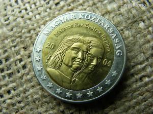 2 euró próba , próbaveret 2004 , Mátyás király , Beatrix , vastag !