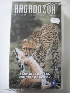 SZUPERVADÁSZAT, CSÚCSRAGADOZÓK -  VHS - ÚJSZERŰ