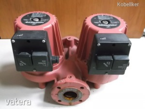 Fűtési iker keringető szivattyú, 2x 110-435W, 3~ 380V 50Hz, 417 l/min, Grundfos UMC 50-60 (2db)
