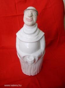 Nagyon ritka szerzetes formájú misebor tartó butella