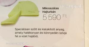 Új tupperware mikroszálas hajturbán akciósan eladó