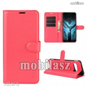ASUS ROG Phone 3 (ZS661KS)/ ROG Phone 3 Strix, WALLET notesz mobiltok, Piros