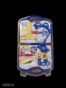 Kék orvosi táska eszközökkel - ÚJ
