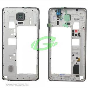 Samsung N910F Galaxy Note 4 fekete gyári bontott középkeret