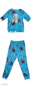 Kék véres csontvázas 2 részes halloween jelmez