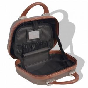4 részes Bőrönd szett keményfedeles - Barna 7e72937e5c