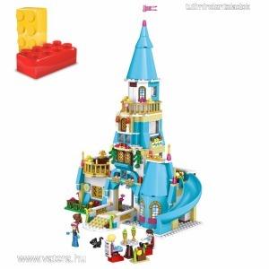 Jégvarázs,Frozen,kastély,palota,ház,Anna,Elsa,Olaf,építőkocka,kompatibilis építőjáték