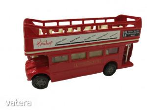 Fém piros emeletes busz - London Bus