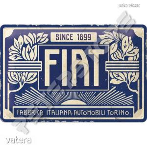 Retró Fém Tábla - Fiat Dombornyomott - 3690 Ft Kép