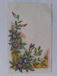 Képeslap, levelezőlap - virágok motívum 1900. körül