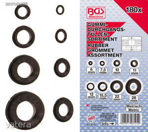 BGS-8125 Vezeték védő gumikészlet 180 részes