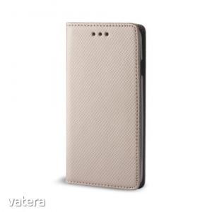 Smart magnet Nokia 9 oldalra nyíló mágneses könyv tok szilikon belsővel arany