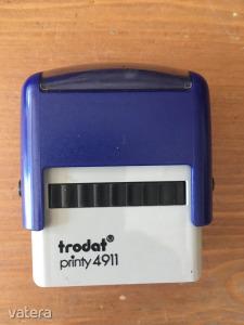 Trodat Printy 4911 használt bélyegzőház új kék párnával (működik)