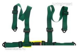 Racing Biztonsági övek 4p 2 zöld - E4