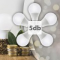 LUXRAY 5W led izzó SBL-Q50 - 5db
