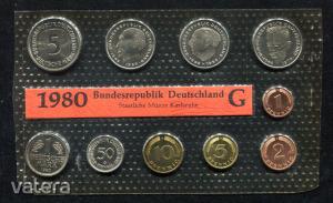 1980 G  Németország  nylon tokos forgalmi sor  BG20