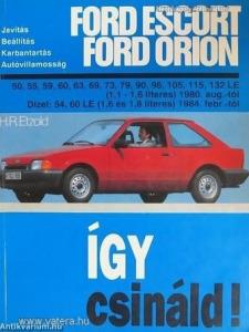 Ford Javítási kézikönyv, ford escort/orion 1980-tól