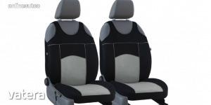 Univerzális trikó üléshuzat pár Tuning 100% velúr szürke fekete színben