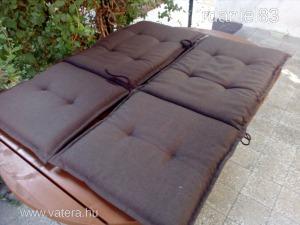 Kerti bútor háttámlás ülőpárna, székpárna, hinta, pad, szék, párna, 2 darabos, szép állapotú #2