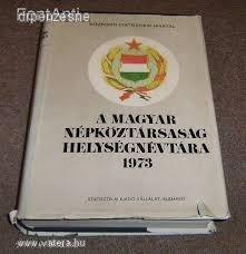 A magyar népköztársaság helységnévtára 1973