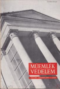 MŰEMLÉKVÉDELEM - XVII. évf., 1973/1.