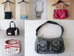 8 db-os női táska csomag Kipling, Diesel, Roxy, Gas, Sanchez...
