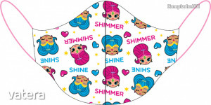 Shimmer és Shine mintás gyermek arcmaszk