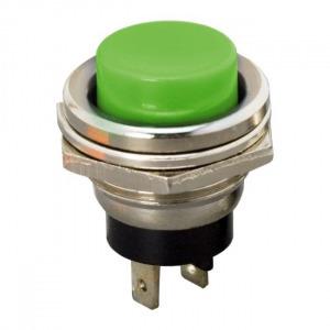 Nyomógomb 2A/250V zöld (09065ZO)