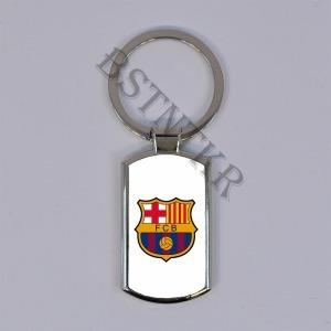 FC Barcelona mintás elegáns fém kulcstartó