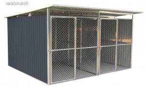 G21 KEN 886 kutyaketrec - 322 x 275 cm, két férőhelyes, szürke 63900594
