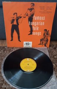 Famous Hungarian Folk Songs LP Nagylemez