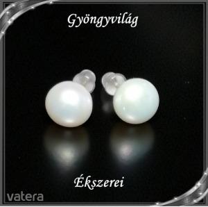 Ékszerek-fülbevalók: igazgyöngy , 925-ös sterling ezüst SFE-IGY02-8